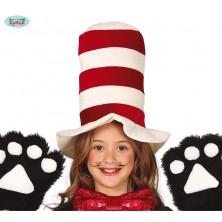 Červeno-bílý klobouk dětský