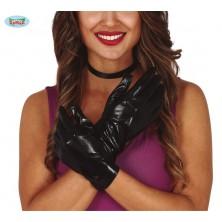Černé rukavice krátké