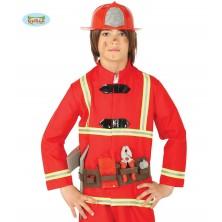 Sada hasič - helma, opasek a nářadí