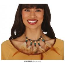 Indiánský náhrdelník s peřím