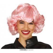Růžová paruka dámská