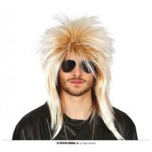 Blond rocker paruka