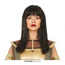 Černovlasá paruka s flitrovými vlasy