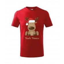 Dětské tričko Veselé Vánoce červené