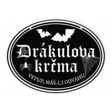 Halloweenská cedule Drákulova krčma