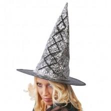Čarodějnický klobouk stříbrný