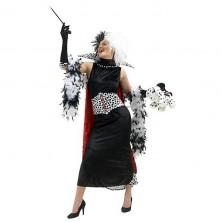 Cruella de Vil - licenční kostým - S - 34/36