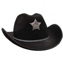 Kovboj černý s hvězdou