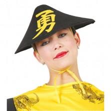 Čínský klobouk - černá