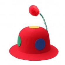 Klaunský klobouk plstěný