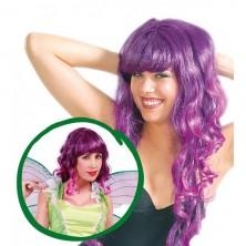 Dámská kadeřavá paruka fialová