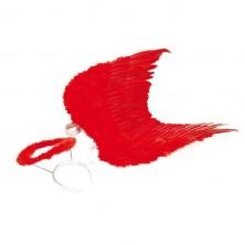 Křídla se svatozáří - černá