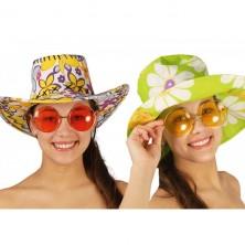 Velké brýle Hippie - mix barev