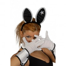 Bílé rukavice 25 cm