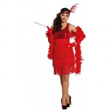 Charleston Girl červené šaty - 34