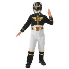 Black Power Ranger Flat Chest - Megaforce - licenční kostým