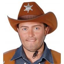 Pánský kovbojský klobouk hnědý s hvězdou