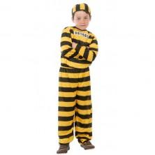 Kostým vězeň žlutý - 10 - 12 roků