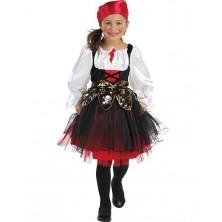 Pirátský kostým dětský s šátkem na hlavu - 116