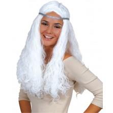 Andělská paruka bílá