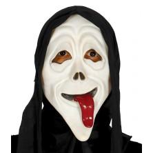 Maska vřískot s vyplazeným jazykem