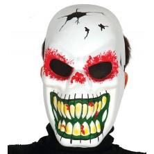 Maska skelet bílá - halloween