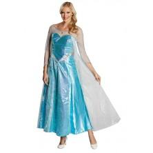 Elsa Deluxe (Frozen) kostým pro dospělé - S - 34/36
