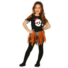 Dívčí kostým s lebkou