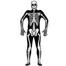 Černý overal s motivem kostry