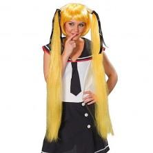 Sailor Space Girl žlutá - karnevalová paruka