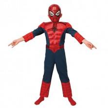 Ultimate Spiderman Deluxe Metallic Child - M 5 - 7 roků