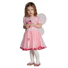 Jahodová víla - šaty s křídly - 104