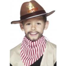 Klobouk s šerifskou hvězdou