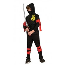 Kostým Ninja 6-ti dílný - L 8 - 10 roků