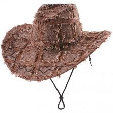 Záplatovaný klobouk kovbojský - černá