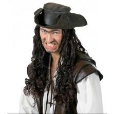 Pirátská paruka s kloboukem