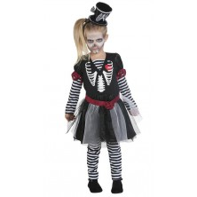 Dívčí šaty skeleton - 152