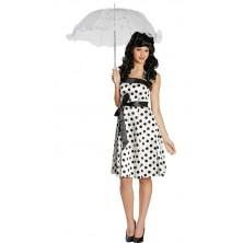 Černo-bílé šaty z 50-tých let