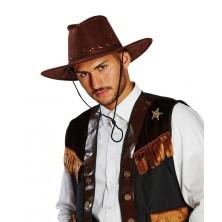 Kovbojský klobouk tmavohnědý