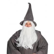 Kouzelník - paruka s vousy