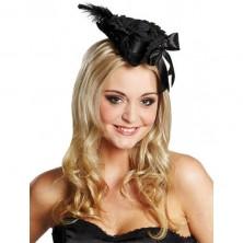 Pirátský klobouček Deluxe černý