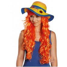 Dámský slaměný klobouk se slunečnicí
