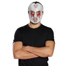 Hokejová maska zakrvavená