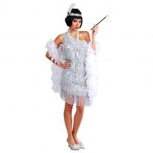 Charleston - stříbrné šaty