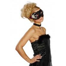 Zakrvavená maska s lebkou a hnátem