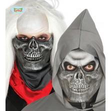 Poloviční stříbrná maska squelette