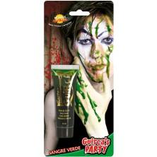 Krev v tubě zelená