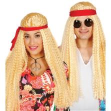 Paruka hippie blond se stuhou