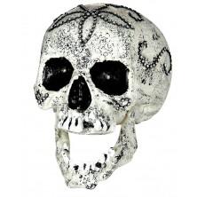 Lebka zdobená štrasovými kamínky