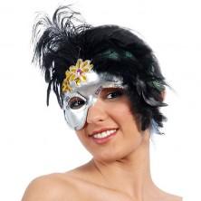Maska dámská péřová jednostranná